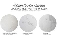 Alternatives to Cararra Marble | Quartz