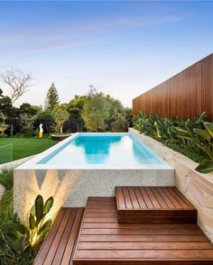 Inground Pool Designs, Backyard Pool Designs, Small Backyard Pools, Swimming Pools Backyard, Swimming Pool Designs, Garden Pool, Pool Landscaping, Pool Landscape Design, Outdoor Retreat