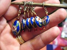 Great idea! Follow the link for instructions on how to make these stitch markers for knitting.