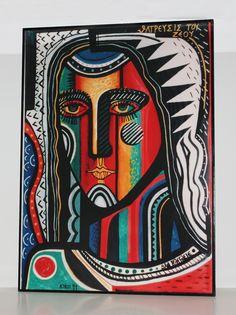 Icono 'San Rafael arcángel', obra de Kiko Argüello, iniciador del Camino Neocatecumenal.