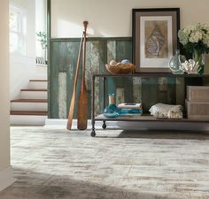 Wood Feature Accent Wall Ideas Using Flooring. Reclaimed Coastal Lake Beach House Wainscoting