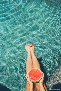 Pedicure + watermelon