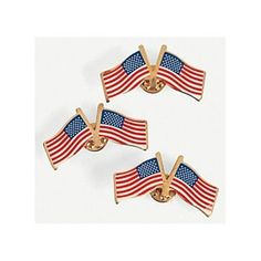 Wear these metal double American flag pins on your lapel or handbag for a simple yet stylish way to express your American pride! Tuck these star-spangled . American Flag Pin, American Pride, 4th Of July Party, Fourth Of July, Flag Pins, Fun Express, Religious Symbols, Star Spangled, Oriental Trading