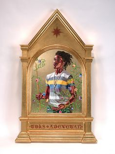 Los Angeles native and New York based visual artist, Kehinde Wiley has firmly situated himself within art history's portrait painting tradition. Contemporary Art Gallery, National Portrait Gallery, American Art, American Paint, Kehinde Wiley, Art Encounters, Archangel Gabriel, Painting, Art
