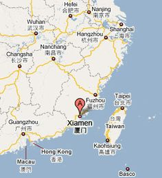 Location of Xiamen, China