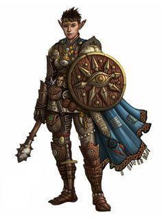Female Elf Cleric - Pathfinder PFRPG DND D&D d20 fantasy