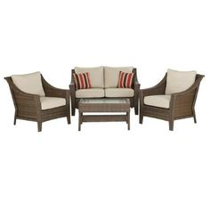 I really like this set of outdoor patio furniture, and there are lots of other pieces that can mix and match with it.