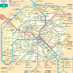 **The Paris metro map, it's like a piece of art.