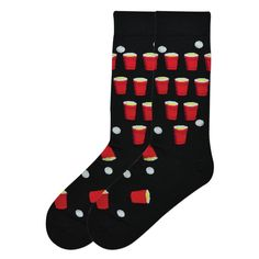 The Joy of Socks - Beer Pong Socks (Men's), $10.50 (http://www.joyofsocks.com/beer-pong-socks-mens/)