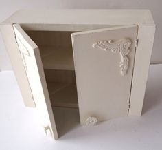 Wood Cabinet Spice Cabinet Medicine Cabinet by MollyMcShabby