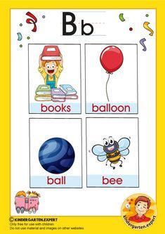 Preschool and Kindergarten Alphabet & Letters Worksheets Letter P Activities, Letter Worksheets, Preschool Letters, Kindergarten Worksheets, Preschool Activities, Letter B, Alphabet Letters, Bee Do, B Words