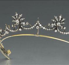 silver, gold, & diamond tiara