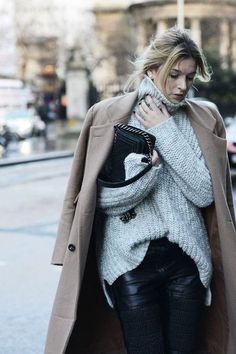 Winter ♥  chanel bags and cigarette drags