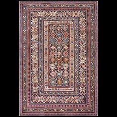 Stock Id: #18003    General Rug Type:       Caucasian    Specific Rug Type:       Caucasian- Chi-Chi    Circa: 1880    Color: Blue    Origin: Caucasus    Width: 3' 9'' ( 114.3 cm )    Length: 5' 9'' ( 175.3 cm )