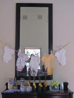 Purple and yellow baby girl shower!