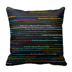Cheltenham Township Text Design I Throw Pillow