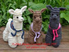 Alpaca crochet patrón patrón de llama crochet por CarleneCrochet