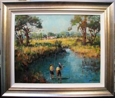 Gian-Piero Garizio original acrylic titled  Farm Creek . Have Fun, The Originals, Painting, Ebay, Art, Art Background, Painting Art, Kunst, Paintings