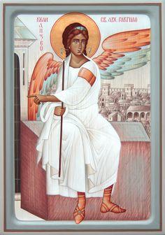 Angel of the Resurrection by Dragan Jovanovic History Icon, Art History, Religious Icons, Religious Art, Friend Of God, Angel Theme, Paint Icon, Byzantine Art, Holy Mary