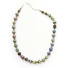 Amani Recycled Paper Necklace Magazine Beads, Fair Trade Jewelry, Paper Beads, Medical Care, Kenya, Recycling, Beaded Necklace, Chain, Water