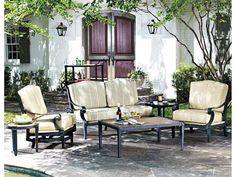 Beautiful Outdoor Patio Furniture   Woodard Landgrave Cast Aluminum Hacienda Chat  Chair   PatioFurniture.com | Garden | Pinterest | Landgrave, Patio Lounge  Chairs And ...