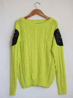studded shoulder sweater