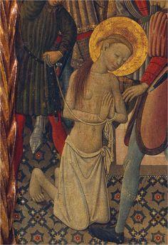 H. 1442-45. Martirio de Santa Catalina, Bernardo Martorell,  Museo Nacional de Arte de Cataluña, Barcelona