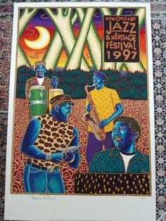 1997 NEVILLE BROTHERS NEW ORLEANS JAZZ FEST POSTER