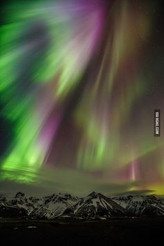 Northern lights in Iceland during the solar storm last week.