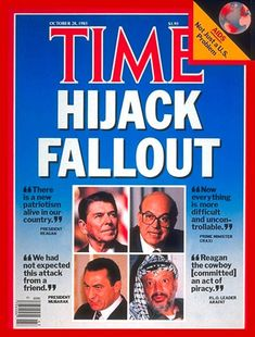 TIME Magazine Cover: Reagan, Craxi, Mubarak and Arafat - Oct. 28, 1985