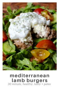 #paleo mediterranean lamb burgers  #dinner #cleaneating #healthyeating #paleofriendly