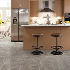 Combining coastal and organic elements, Adura® San Luca creates a tranquil atmosphere with its blend of subtle sun-bleached colors and exquisite detail. Mannington Adura, Luxury Vinyl Tile Flooring, Flooring Options, Flooring Ideas, Kitchen Flooring, Kitchen Remodel, House Design, Interior Design, San