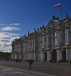 Winter palace with the flag above by MiroslavStamenov #architecture #building #architexture #city #buildings #skyscraper #urban #design #minimal #cities #town #street #art #arts #architecturelovers #abstract #photooftheday #amazing #picoftheday