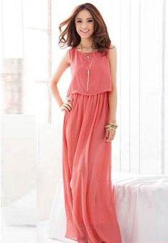 LADIES LONG SUMMER HOLIDAY MAXI DRESS IN PINK - ASOS MARKETPLACE