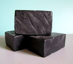 Activated Charcoal Exfoliating Soap  All Natural by BatheHappy, $5.00