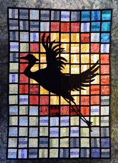 Joy at the end of day quilted wall hanging by Quiltsbysuewaldrep, $185.00