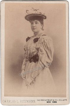 Melba, Nellie - Cabinet Photo by C. Ritzmann, New York