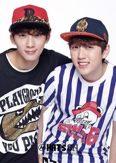 Gong Chan and Sandeul - Hats On S/S 2015