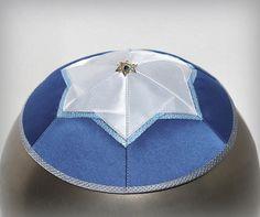 Kippah - yarmulke. Jewish wedding - Bar Mitzvah - Shabbat. David Star
