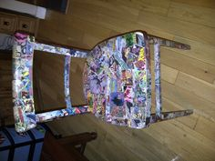 Comic Book chair - Daddy's old comics made a perfect 6th birthday gift for a Batman crazy little boy