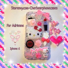 Hello kitty custom case  Check out my Instagram gallery @cchobbo to see all of my cases and you can always DM me there to order a custom case.