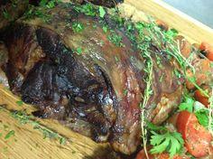 A perfect Sunday roast leg of Irish Lamb ... Recipe ! Just divine ....