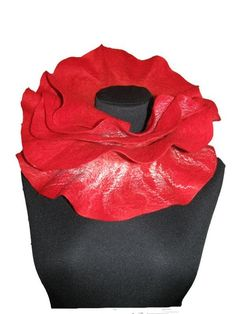 Handmade Long ruffle scarf felted Red rose  #Accessories #Scarf #Felted #neckwarmer #felted scarf # wool  #felt  #collar neck #felted scarvesl #scarf # for women #for her  #holiday gift fashion #australian merino wool #mulberry silk  #scarves $73 Felted Scarf, Wool Scarf, Red Scarves, Silk Scarves, Ruffle Scarf, Mulberry Silk, Neck Warmer, Devon, Wool Felt
