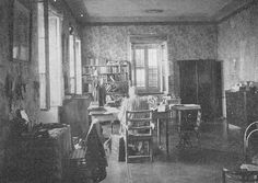 Captain Sir Richard Francis Burton in his study. It is said he had numerous tables full of projects at all times. Not enough time in one lifetime for Richard.