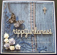 Rippikortti/Konfirmation card Scrapbook Cards, Scrapbooking, Brooch, Crafts, Craft Ideas, Manualidades, Scrapbook, Diy Ideas, Handmade Crafts