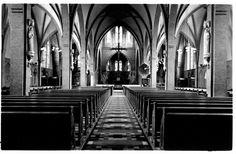 Interieur van de St.-Ludgeruskerk aan de Amsterdamsestraatweg te Zuilen.1935-1942 Utrecht, Netherlands, Historia, The Nederlands, The Netherlands, Holland