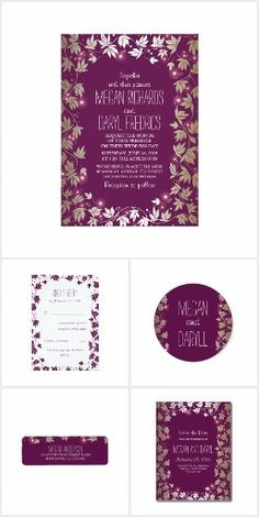 Garden Wedding Collection. This rustic country wedding set / stationary / suite may include: Wedding invitation cards, wedding envelopes, wedding RSVP Cards, wedding address labels, save the dates, wedding programs, wedding thank you cards, rehearsal dinners, stamps and more matching wedding products. Click image to see all available matching items.