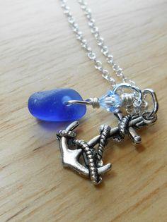 Beach Glass Necklace  Beach Glass Jewelry  by SeaFindDesigns, $30.00