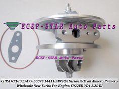 Oil Turbo CHRA Cartridge GT1849V 727477 727477-5006S 727477-5007S Turbocharger For NISSAN X-Trail Almera Primera YD22ED YD1 2.2L #Affiliate