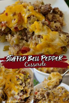Easy Dinner Recipes, Easy Meals, Weeknight Meals, Ground Beef Recipes For Dinner, Stuffed Pepper Casserole, Beef Stuffed Peppers, Stuffed Pepper Recipes, Ground Beef Dishes, Casseroles With Ground Beef